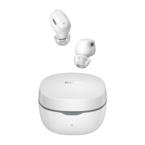 אוזניות בלוטות' בצבע לבן מדגם Baseus TWS WM01 true wireless
