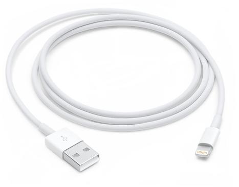 כבל Lightning לחיבור USB מקורי למוצרי אפל באורך מטר